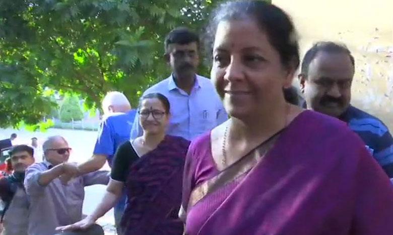 Nirmala Sitharaman, ఓటేసిన నిర్మల సీతారామన్