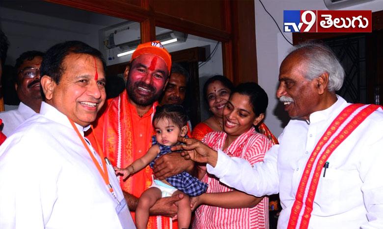 బీజేపీ   నాయకుడు ' జి.కిషన్ రెడ్డి ' సంబరాల ఫొటోస్
