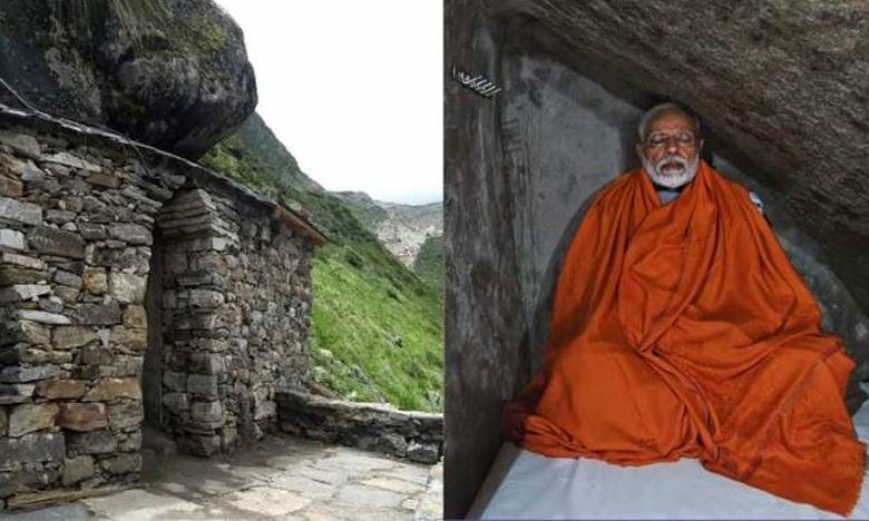 Cave PM Modi meditated in can be rented for Rs 990/day, మోదీ ధ్యానం చేసిన గుహ అద్దె ఎంతో తెలుసా?