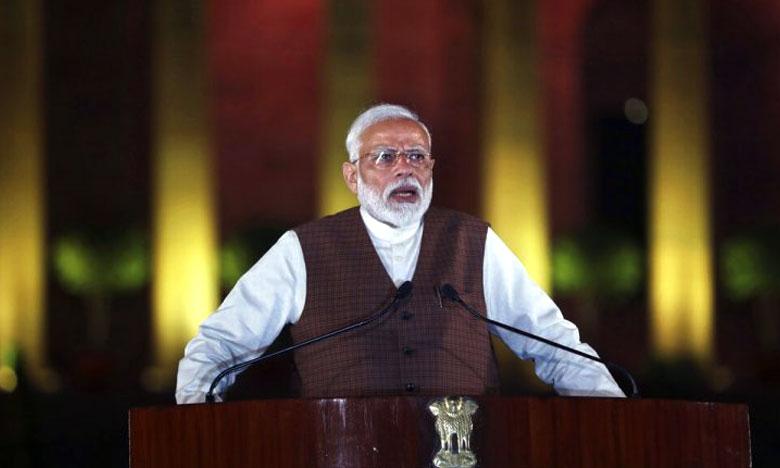 President Kovind administers oath of office to PM Modi, ప్రధానమంత్రిగా మోదీ ప్రమాణ స్వీకారం