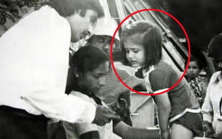 Amitab, ఈ ఫొటోలో ఉన్న అమ్మాయెవరో తెలుసా..?