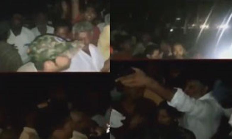 Tension situation at Chandragiri's Kammapalli, చంద్రగిరి నియోజకవర్గంలో టీడీపీ, వైసీపీ మధ్య ఘర్షణ