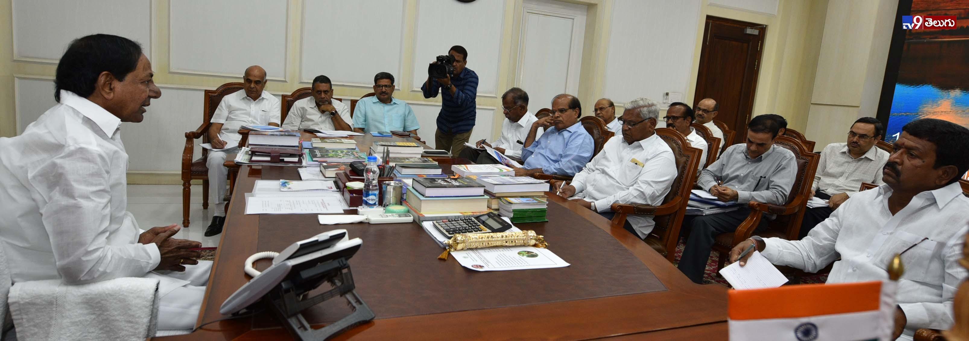 KCR about Kaleswaram Project, ముఖ్యమంత్రి కేసీఆర్ కాళేశ్వరం ప్రాజెక్టులో అవసరమయ్యే విద్యుత్ సరఫరా చేసే అంశంపై సమీక్షా సమావేశం   ఫొటోస్