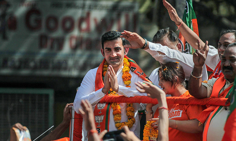 Gambhir Set for Second Innings on Political Turf, గంభీర్ విజయ దుందుభి