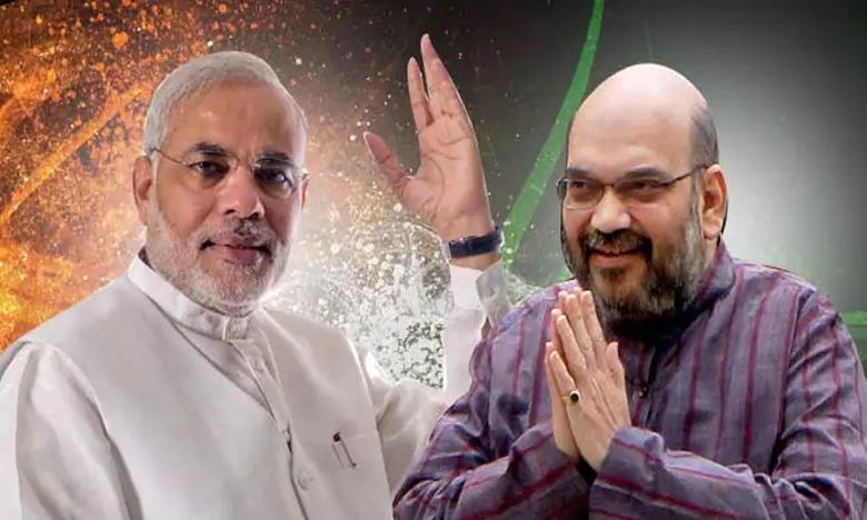 PM Modi, భారీ ఆధిక్యం దిశగా మోదీ, అమిత్ షా