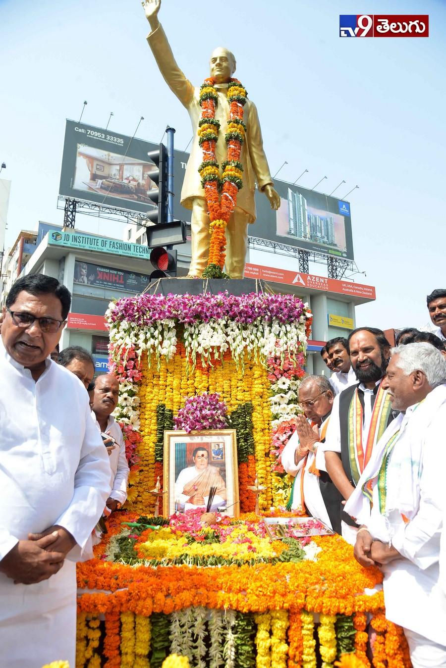 Rajiv Gandhi death anniversary at Hyderabad, మాజీ ప్రధాని రాజీవ్గాంధీ వర్థంతి సందర్భంగా హైదరాబాద్ లో  నివాళులర్పించిన ప్రముఖులు