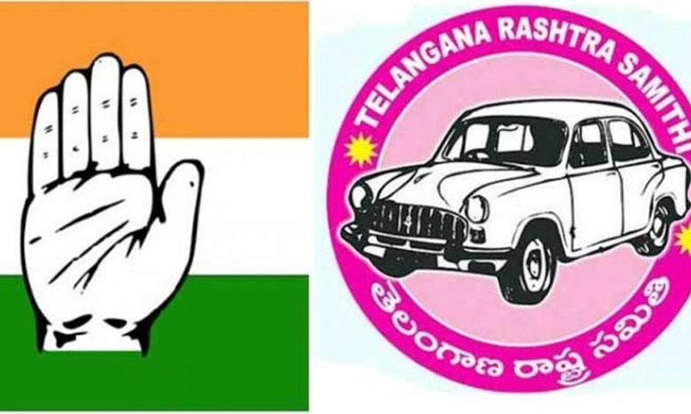 Fight between TRS and Congress, టీఆర్ఎస్, కాంగ్రెస్ కార్యకర్తల డిష్యుం.. డిష్యుం