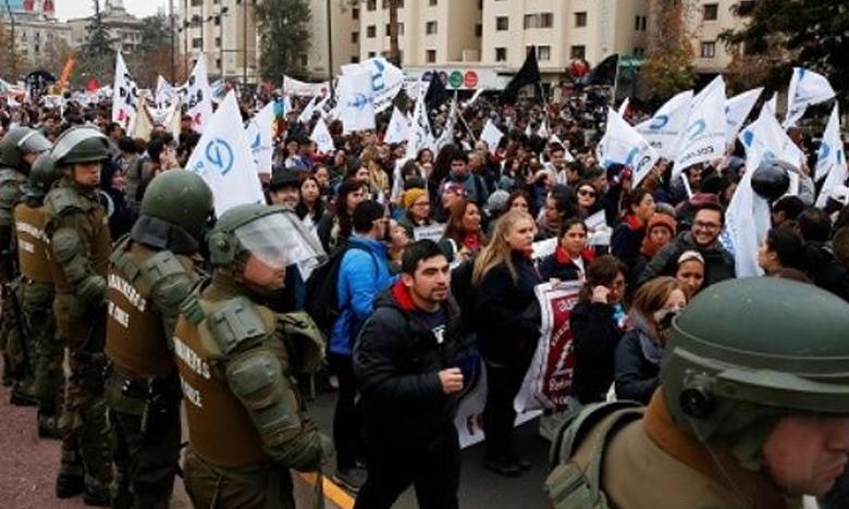 Teachers continue protests, చిలీలో 45 వేల ఉపాధ్యాయుల ఆందోళన..