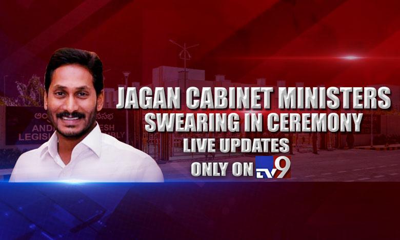YS Jagan mohan Reddy cabinet ministers swearing, లైవ్ అప్డేట్స్ : జగన్ టీం ప్రమాణ స్వీకారం