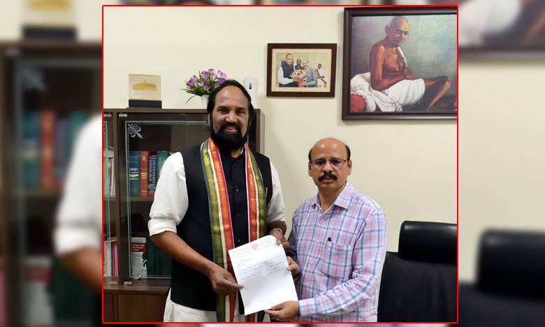 Uttam Kumar reddy resigns his MLA Post, ఎమ్మెల్యే పదవికి ఉత్తమ్ రాజీనామా