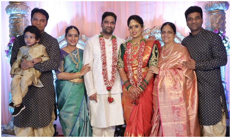 DSP's brother Sagar gets married, నిరాడంబరంగా దేవీ శ్రీ సోదరుడు సాగర్ పెళ్లి వేడుక