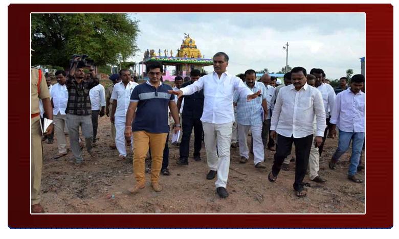 CM KCR Chintamadaka, సీఎం కేసీఆర్ సొంత గ్రామం పర్యటన ఏర్పాట్లపై హరీశ్రావు పరిశీలన