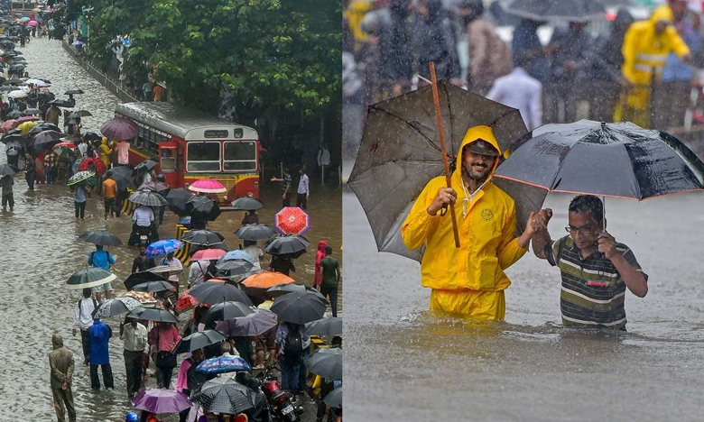 Heavy Overnight Rain In Mumbai, తడిసి ముద్దైన ముంబై