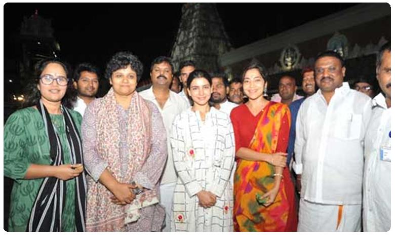 Samantha visits Tirumala, 'ఓ బేబి' సినిమా సక్సెస్ కోసం..