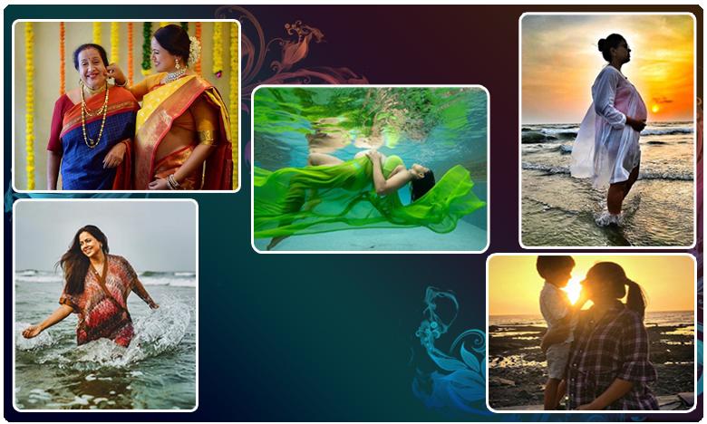 Sameera Reddy, 9 నెలల గర్భిణీ.. సమీరా రెడ్డి అండర్ వాటర్లో ఫోజులు..!