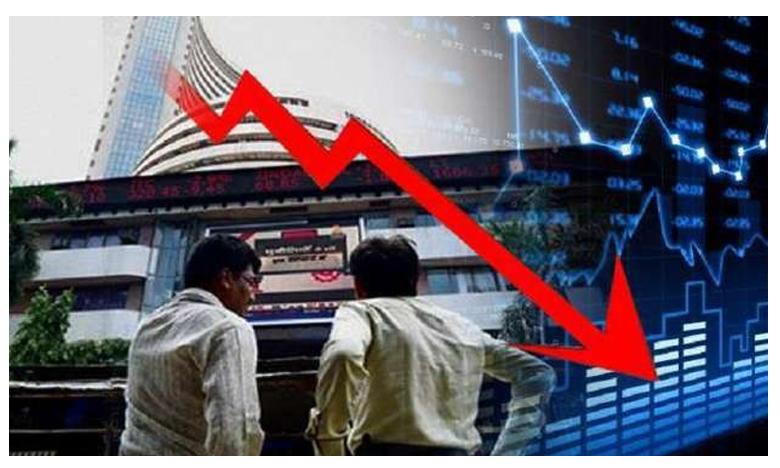 Mumbai Stock market Ends In Losses Sensex 318 points And Nifty 91 Points, భారీగా షేర్ల అమ్మకాలు.. నష్టాల్లో ముగిసిన స్టాక్ మార్కెట్లు