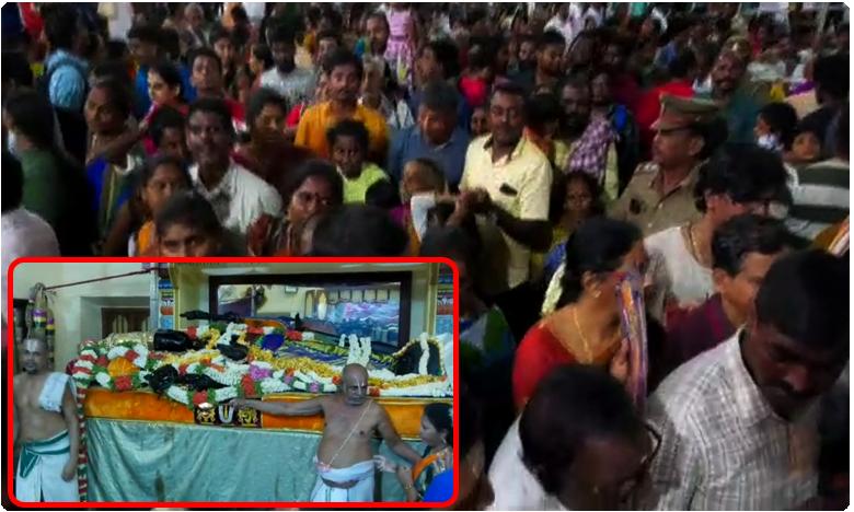 Four die in stampede at Kancheepuram Devarajaswami temple in Tamil Nadu, ఉత్సవంలో తొక్కిసలాట.. నలుగురు మృతి