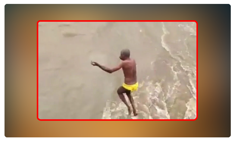 karnataka 60 year old jumps into swollen river emerges 2 days later