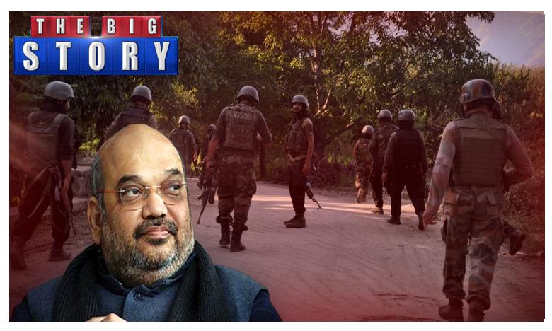 Amit Shah Meets NSA Doval in Parliament as Speculation Mounts Over Security Situation, కశ్మీర్పై కదిలిన కేంద్రం.. రేపు పార్లమెంట్లో కీలక బిల్లు