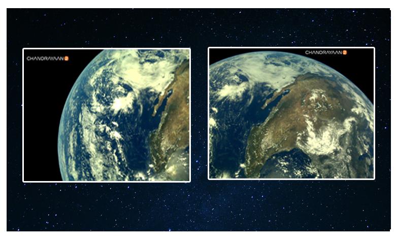 Earth as viewed by Chandrayaan-2: Isro shares 1st pictures, చంద్రుడా.. భూమి ఎలా ఉందో చూడు.. చంద్రయాన్2 ఫోటోలు అదుర్స్