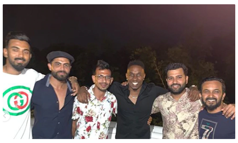 Rohit Sharma, Shikhar Dhawan and India teammates enjoy dinner at Brian Lara's residence