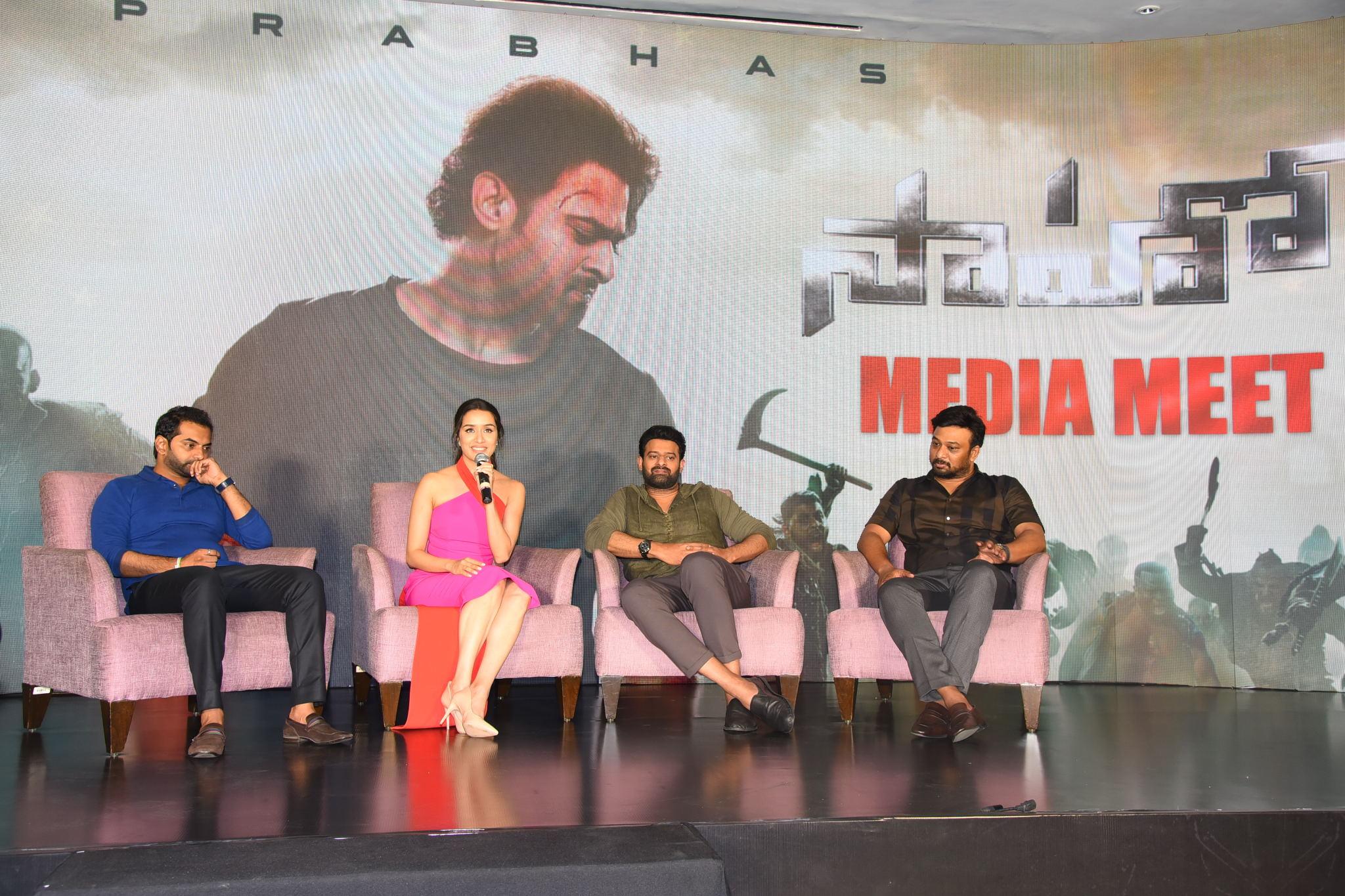 Prabhas Saaho Media Meet, 'సాహో' ప్రెస్  మీట్.. ఫొటోస్