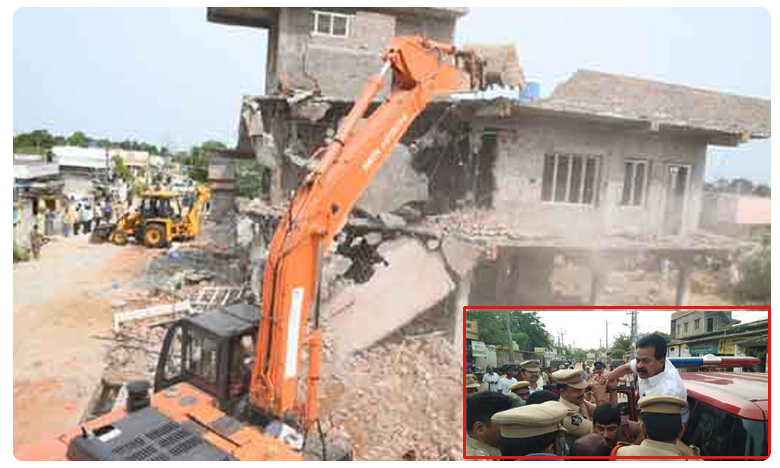 Officials demolish TDP leader's residence in Nellore district