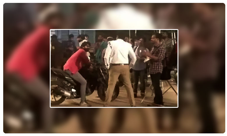 Drunk and drive movie Scene shooting creates tension for alcoholic riders in film nagar