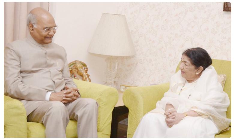 President of India, Ramnath Kovind pays a visit to Lata Mangeshkar at her Mumbai residence