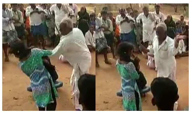 Village elder beats minor girl at panchayat in Andhra Pradesh
