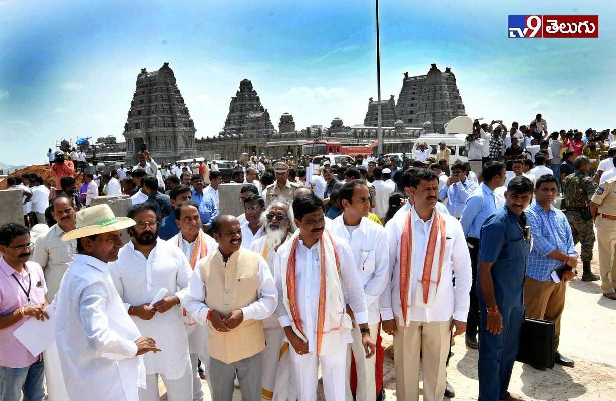 Telangana CM KCR Yadadri Tour Photos, యాదాద్రిలో పర్యటించిన సీఎం శ్రీ కేసీఆర్ ఫొటోస్