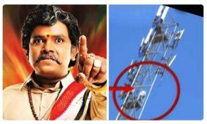 Sampoornesh Babu Fan Climbs Cell Tower For Kobbari Matta Movie