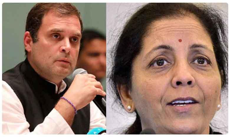 """On Rahul Gandhi's """"Stealing From RBI"""" Tweet, Nirmala Sitharaman's Retort"""