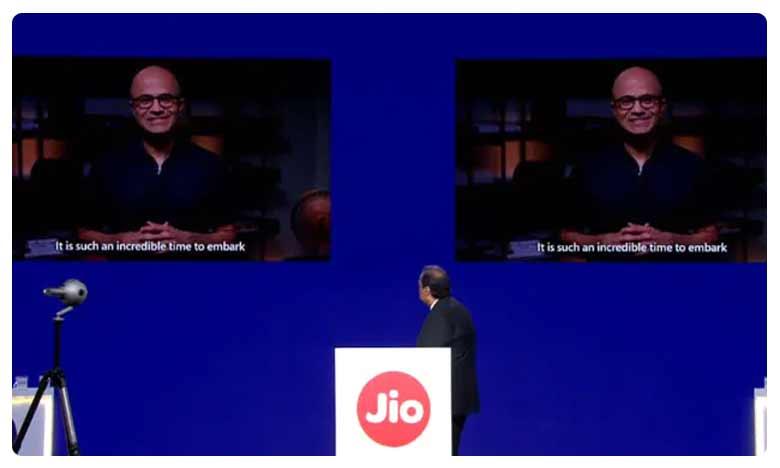 What Microsoft CEO Satya Nadella Said, మైక్రోసాఫ్ట్తో జియో ఒప్పందం… డిజిటల్ ఇండియాకు కొత్త రూపు!