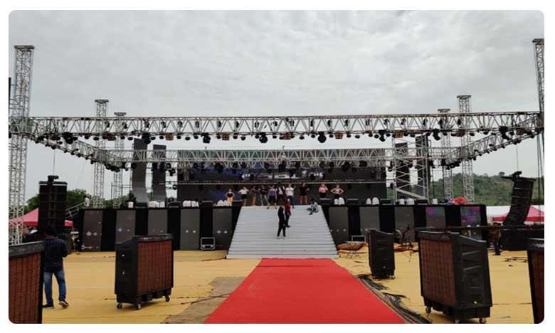 Splendid Arrangements for Saaho Pre Release Event in Ramoji Film City, సాహో ప్రి రిలీజ్ ఈవెంట్… ఏర్పాట్లు అదరహో!