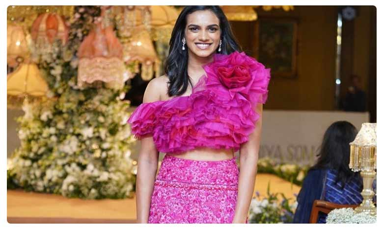 World Champion PV Sindhu Walks the Ramp for Designer Shriya Bhupal
