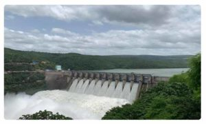 Ten gates of Srisailam dam lifted as inflows rise
