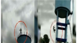 Man jumps off water tank after wife refuses to return
