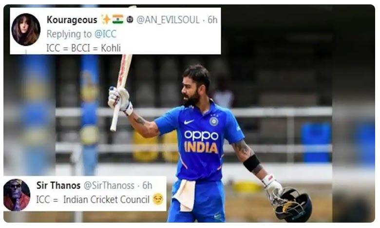 ICC Trolled On Twitter For Endorsing Virat Kohli, విరాట్ కోహ్లీ సెంచరీ పిక్.. ఐసీసీపై పంచ్లు!