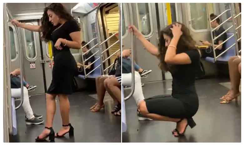 Womans Selfie Photo Shoot On Subway Is Viral For The Best Reason