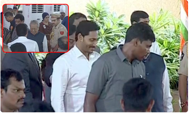 AP CM Jagan and others attended in home program
