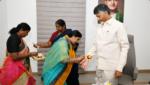 Paritala Sunitha Ties Rakhi to Former CM Chandrababu