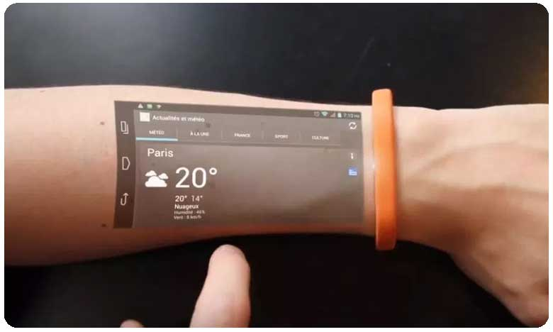Mobile Phone on your Wrist Cicret Bracelet