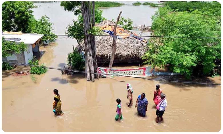 Heavy Rain Lashes in Vijayawada, విజయవాడలో భారీ వర్షం.. డేంజర్ జోన్లో..!