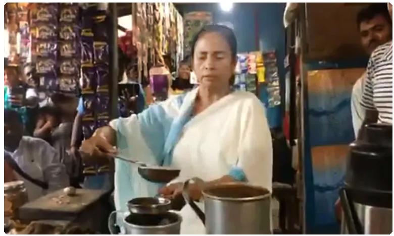 mamata banerjee s tea break during bengal village is a toast online
