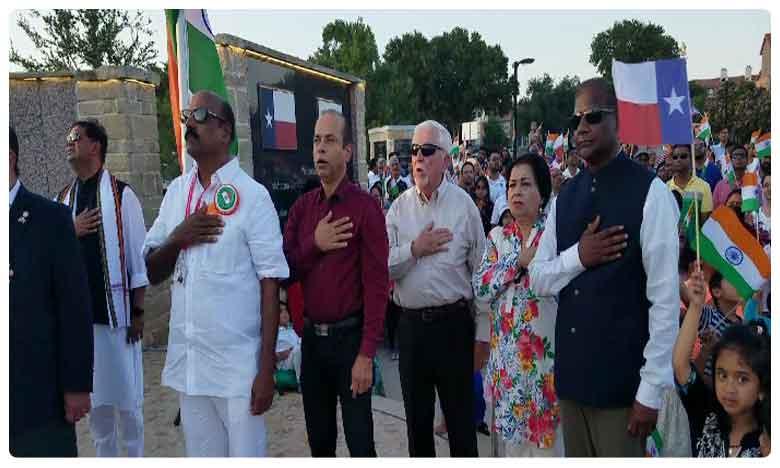 Independence Day celebration by MGMT in Dallas, డాలస్లో రెపరెపలాడిన మువ్వన్నెల జెండా