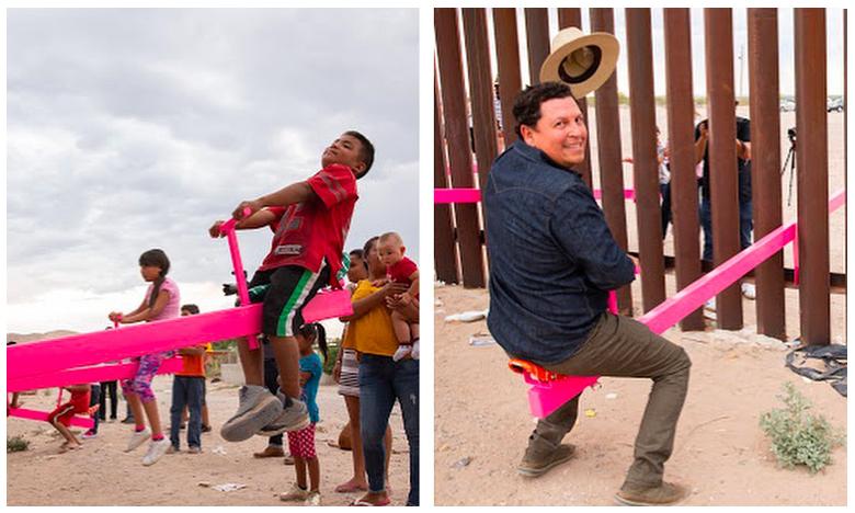 People friendly on both sides of US-Mexico border, పాలిటిక్స్ మాకు తెలీదు.. బార్డర్లో గేమ్స్..