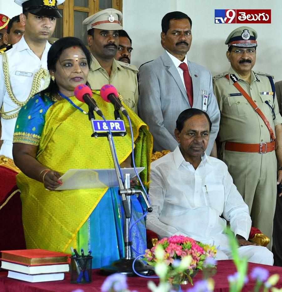 Telangana Governor .Dr. Tamilisai Soundararajan, తెలంగాణ రాష్ట్ర గవర్నర్గా తమిళిసై సౌందరరాజన్కు ప్రమాణ స్వీకారం