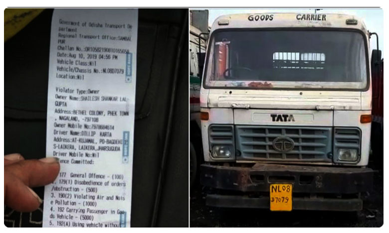 Before New Traffic Rules, Truck Driver Was Fined Rs. 6 Lakh In Odisha