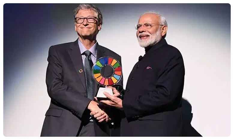 PM Modi Receives Goalkeepers Global Goals Award, మోదీకి మరో ప్రతిష్టాత్మక అవార్డు.. బిల్ గేట్స్ చేతుల మీదుగా..